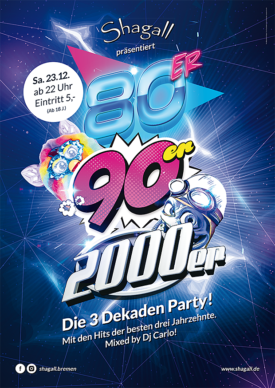 80er, 90er, 2000er! Die 3 Dekaden Party
