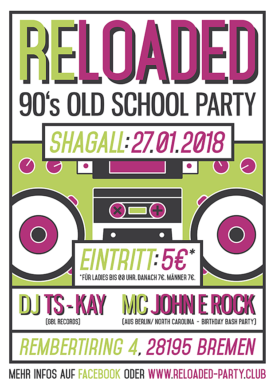 RELOADED – 90's Oldschool Hip Hop & Retro Black Party