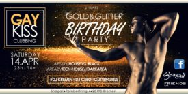 Gaykiss Gold & Glitter Birthday Party